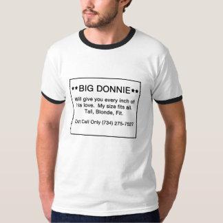 Donnie grande camiseta