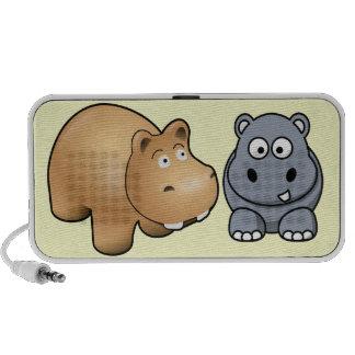 Doodle anca do hipopótamo do pop caixinha de som para mini