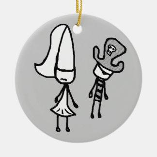 Doodle da princesa & do pirata Collectible Enfeites Para Arvores De Natal