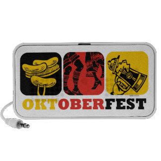 Doodle do divertimento de Oktoberfest Caixinha De Som De Viagem