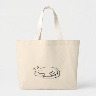 Doodle do gato do sono sacola tote jumbo