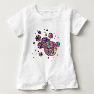 Doodle do monstro macacão para bebê