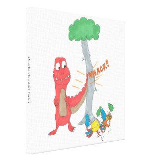 Doodle-Doo e KaKa Impressão Em Canvas
