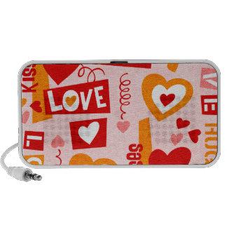 Doodle dos namorados da conversa do amor caixinhas de som para mini
