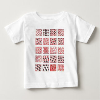doodle patterns camiseta para bebê