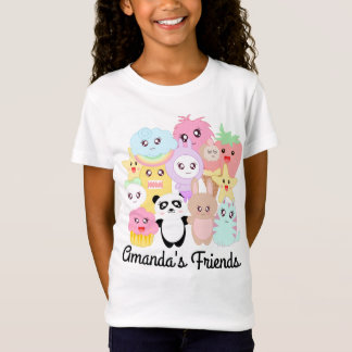 Doodle personalizado de Kawaii Camiseta