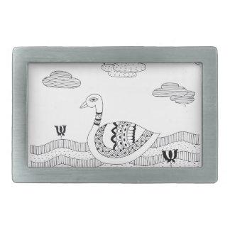 Doodle preto e branco da cisne