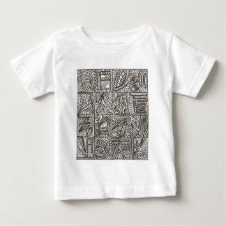 Doodle preto e branco - desenho abstrato da tinta camiseta