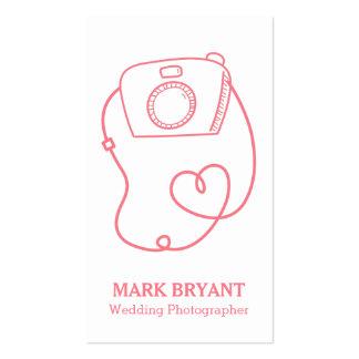 Doodle simples da câmera, fotógrafo do casamento cartão de visita