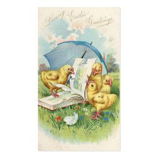 Doodles do feriado do vintage da páscoa mini cartão de visita