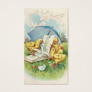 Doodles do feriado do vintage da páscoa mini cartão de visitas