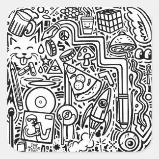 """""""Doodles"""" etiquetas"""