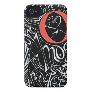 Doodles negativos capa para iPhone 4 Case-Mate