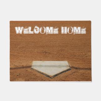 Doormat Home bem-vindo da placa Home do Tapete