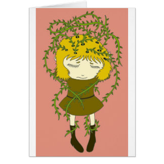 Dor de cabeça esverdeado cartão comemorativo