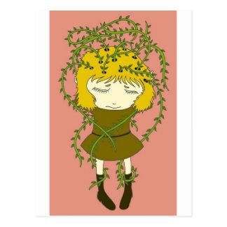 Dor de cabeça esverdeado cartão postal