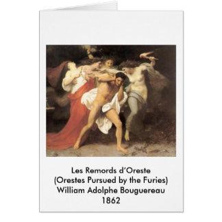 D'Oreste de Bouguereau - de Les Remords Cartão Comemorativo