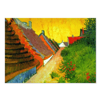 Dorfstrasse na pintura de Sainte-Maries por Van Convite 12.7 X 17.78cm