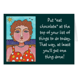 """DORIS:  Psto """"coma o chocolate""""…. - cartão"""