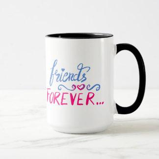 Dos amigos caneca de café para sempre