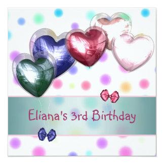Dos balões Pastel da cerceta do aniversário de 3