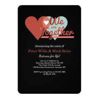 Dos corações convite junto
