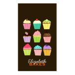 Dos cupcakes cartão de visita abundante