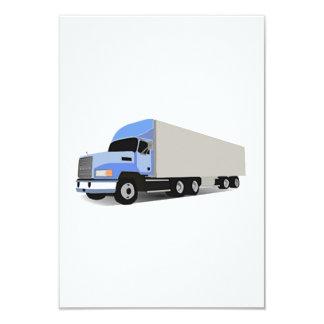 Dos desenhos animados caminhão semi convite personalizados