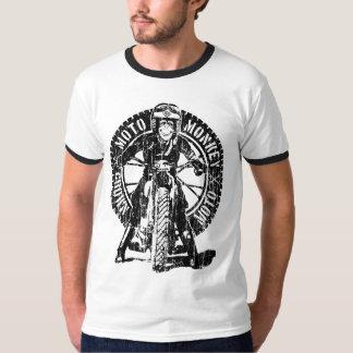 Dos do macaco de Moto (vintage) Camiseta