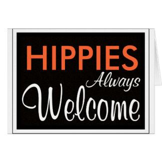Dos HIPPYS boa vinda sempre Cartões