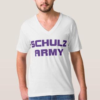 Dos homens americanos do roupa do exército de camiseta