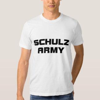 Dos homens americanos do roupa do exército de tshirts