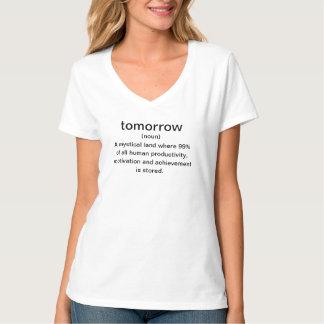 Dos homens uma terra mystical amanhã (substantivo) t-shirt
