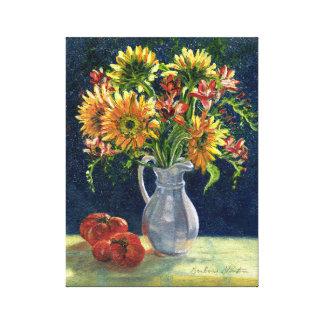 """Dos """"impressão das canvas girassóis e dos tomates"""""""