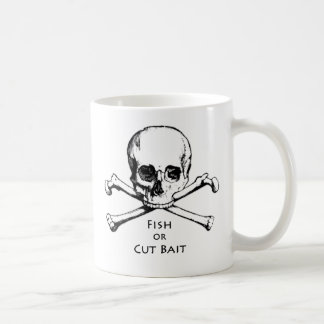 """Dos """"logotipo alegre do pirata de Roger peixes ou Caneca De Café"""