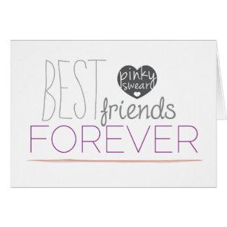 Dos melhores amigos cartão mindinho da promessa