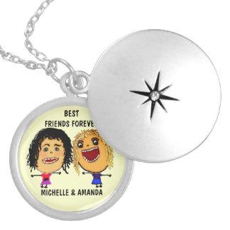 Dos melhores amigos desenhos animados para sempre  locket
