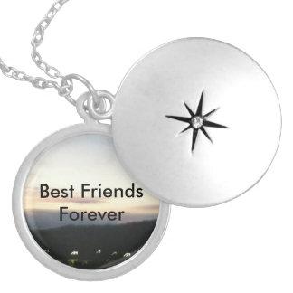 Dos melhores amigos Locket customizável da colar