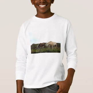 Dos miúdos selvagens dos pôneis de Dartmoor a Camiseta