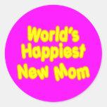 Dos mundos novos das mães dos chás de fraldas do adesivo em formato redondo