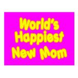 Dos mundos novos das mães dos chás de fraldas do cartão postal