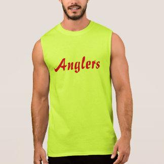 Dos pescadores dos homens t-shirt sem mangas do