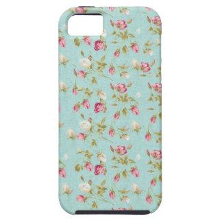 Dos rosas florais do teste padrão do vintage capas para iPhone 5