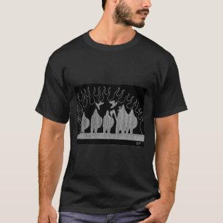 """Dos """"t-shirt Masculina Preta do fogo Norsemen"""" Camiseta"""