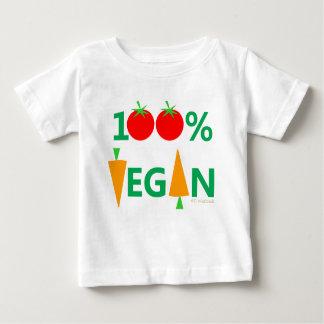 Dos vegetais bonitos dos desenhos animados do camiseta para bebê