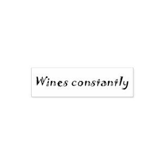 Dos vinhos selo do escritório do humor das carimbo de bolso