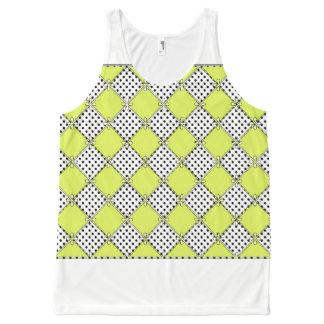 Dottie-Diamante-Limão--Mulher-Tanque-Parte Regata Com Estampa Completa