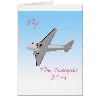 Douglas DC3 Cartão Comemorativo