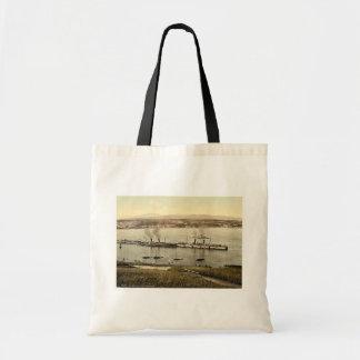 Douglas, porto com navios, ilha do homem, Englan Bolsa