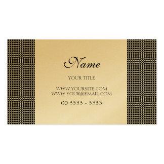 Dourado Elegante Cartão De Visita